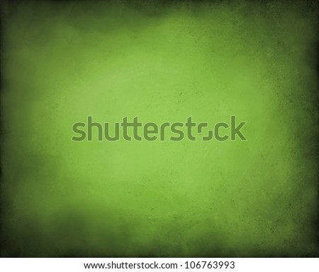 abstract green background paper, old black vignette burnt edges on border or frame of wallpaper with vintage grunge background texture gradient with center light for adding text to brochure ad or web - stock photo