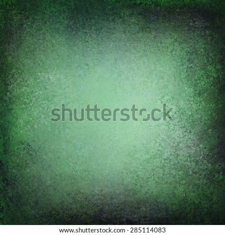 abstract green background with grunge blue and black vignette border design - stock photo
