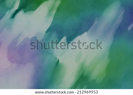 Abstract green background with watercolor paint imitation - stock photo