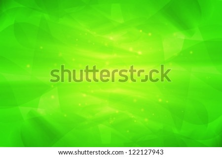 abstract green curves background. - stock photo
