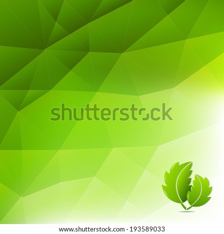 Abstract Green Eco Background - stock photo