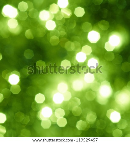 Abstract green glitter or Christmas background - stock photo