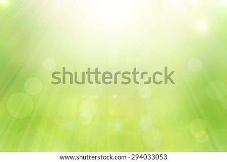 Abstract green spring with sunlight background - stock photo