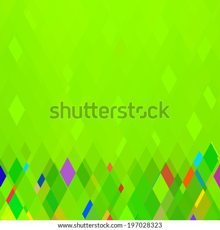 Abstract Green Square Geometrical Background,  Raster Version - stock photo