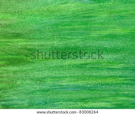 abstract green stroke watercolor background. - stock photo