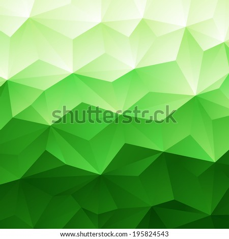 Abstract Green Triangle Geometrical Background,  Raster Version - stock photo