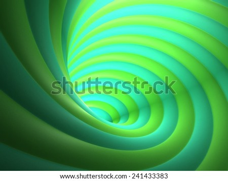 Abstract Green Vortex Background - stock photo