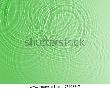 abstract green water ripple background - stock photo