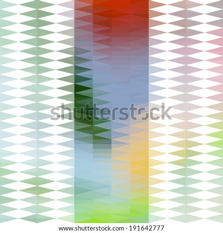 Abstract greeting card template with geometric rhombic ornament. Raster version - stock photo