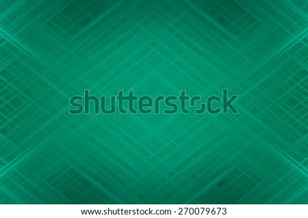 Abstract gren fractal background with various color lines and strips - stock photo