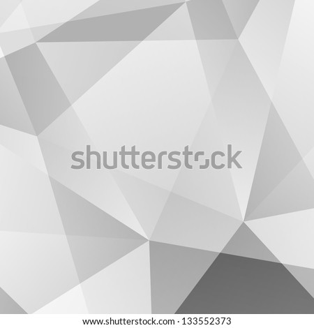 Abstract  Grey Geometric Background. Raster Illustration - stock photo