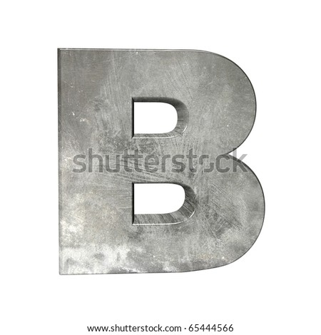 abstract grey letters - stock photo