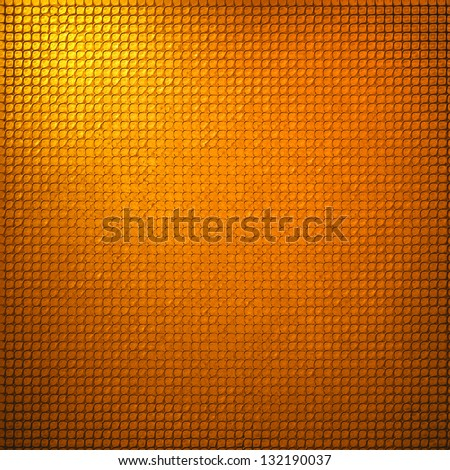 abstract grid background texture pattern design, mesh grill background circle colored glossy shape metallic metal grill illustration, techno orange background, gold yellow warm geometric background - stock photo