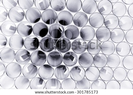 abstract group of circle tubes for background used - stock photo