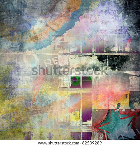 Abstract grunge background, art illustration - stock photo