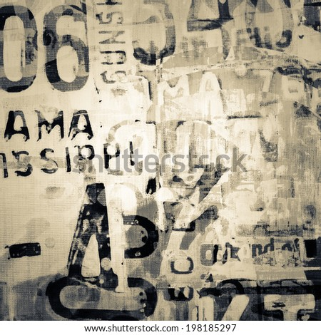 Abstract grunge background on canvas texture - stock photo