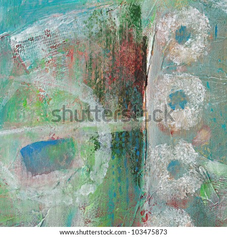 Abstract grunge background with circles and texture. - stock photo