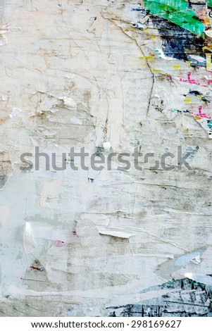 Abstract Grunge Background with Old Torn Posters - stock photo