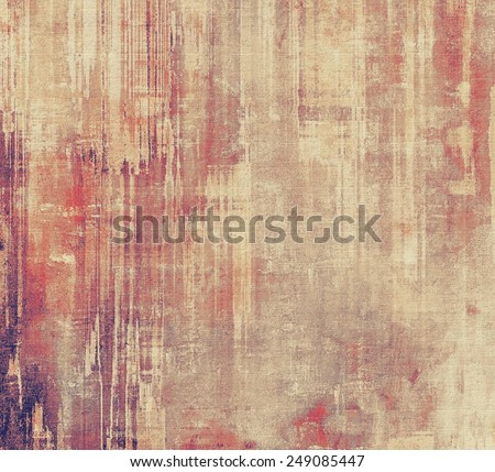 Abstract grunge background with retro design elements and different color patterns: yellow (beige); brown; gray; purple (violet); red (orange) - stock photo