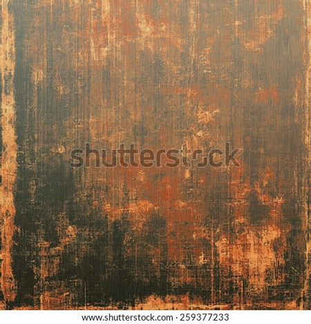 Abstract grunge background with retro design elements and different color patterns: yellow (beige); brown; red (orange); black - stock photo