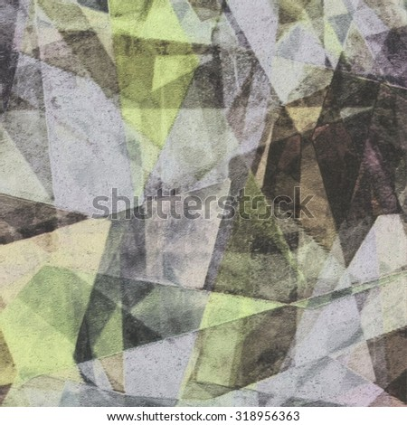 Abstract grunge colorful cubism wall background, texture, design element - stock photo