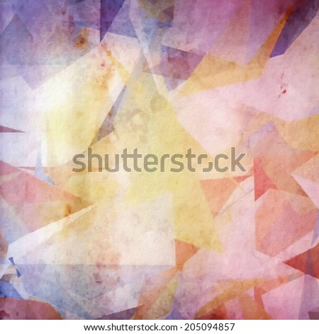 Abstract grunge colorful paper background, cubism - stock photo