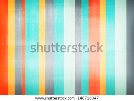 Abstract grunge colorful striped background - stock photo