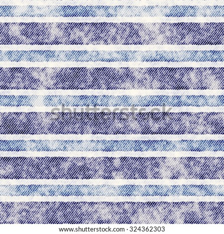 Abstract grunge denim stripes. Seamless pattern. - stock photo