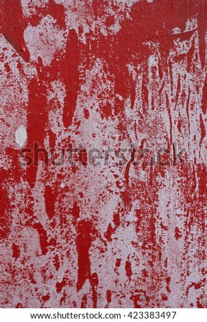 Abstract Grunge Red Background - Old Torn Posters - stock photo