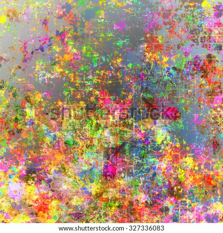 Abstract grunge style colorful splash backgrounds. Watercolor background image illustration. - stock photo