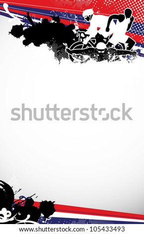 Abstract grunge triathlon sport background with space - stock photo