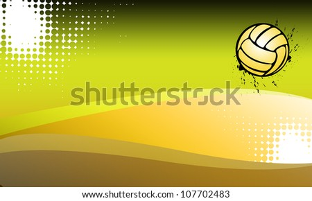 Abstract grunge Volleyballs or handball background with space - stock photo