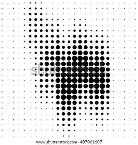 Abstract halftone soundwave design element isolated on white background - stock photo