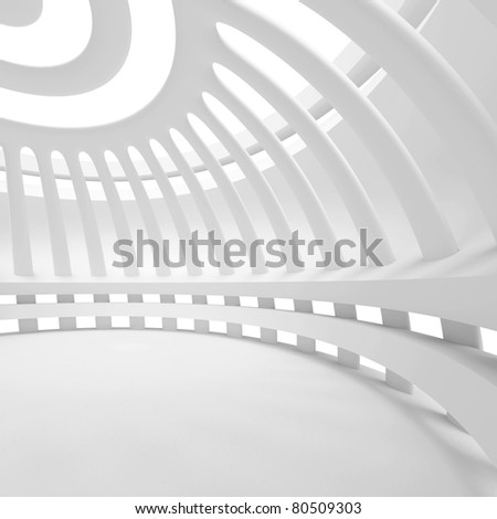 Abstract Hall Background - stock photo