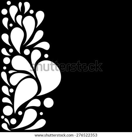 Abstract hand drawn background with drops with place for text. Good for greeting card and web design. Monochrome raster version illustration. - stock photo