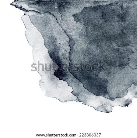 Abstract hand drawn watercolor background. Abstract ink spot textured background. High resolution - stock photo
