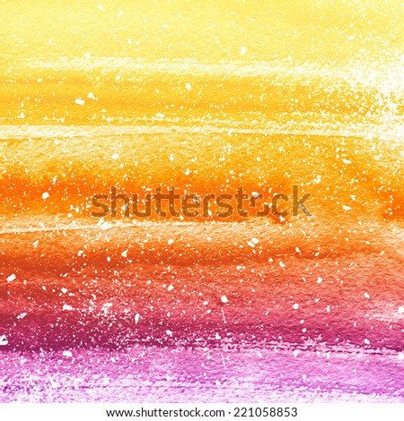 Abstract hand drawn watercolor background. Aquarelle colorful striped texture.  - stock photo