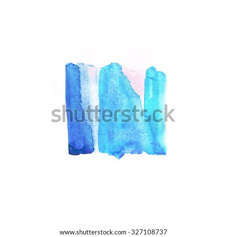 Abstract hand drawn watercolor textured background. Colorful design element - stock photo