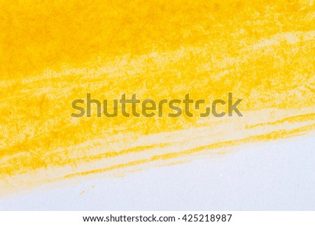Abstract hand drawn yellow watercolor paints background  - stock photo