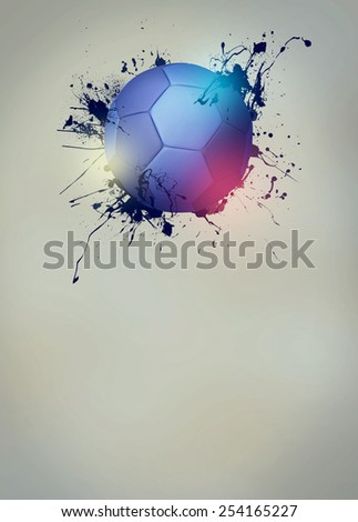 Abstract handball sport invitation poster or flyer background with empty space - stock photo