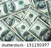 Abstract heap of hundred dollars texture - stock photo
