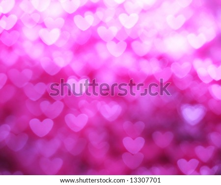 Abstract heart background in pink - stock photo