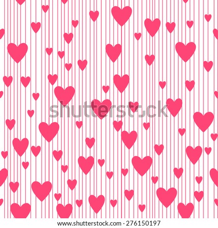 Abstract hearts pattern, background. Seamless pattern. raster version illustration that can be copied without any seams. Good for Valentine's Day cards and other design. - stock photo