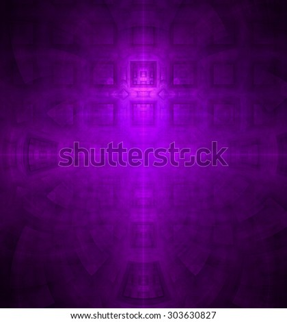 Abstract high resolution background with a detailed geometric square pattern and decorative arches, all in pink and purple - stock photo