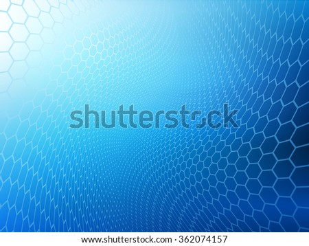 Abstract high resolution faded blue hexagon design background template perfect for various websites, artworks, graphics, cards, banners, ads and much more.  Plenty of space for text.  - stock photo