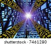 Abstract - High Speed Connection Tunnel - stock photo