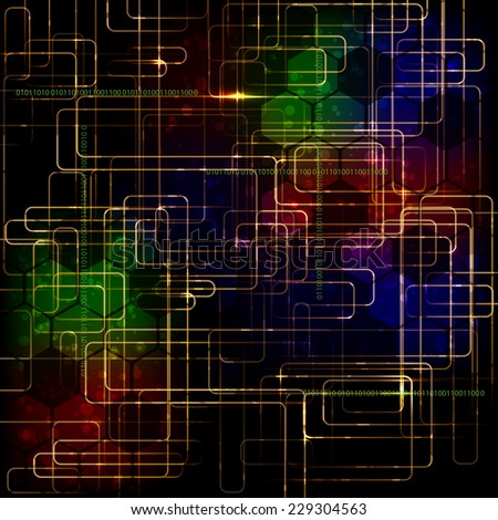 Abstract high technology computer business background. Raster version. - stock photo