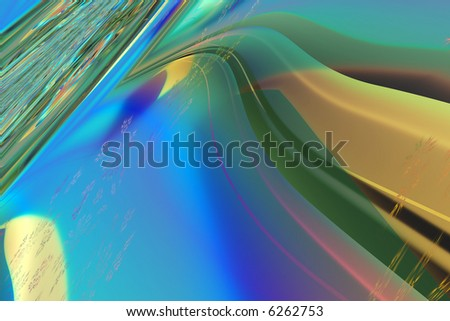 Abstract highway on an angle - stock photo