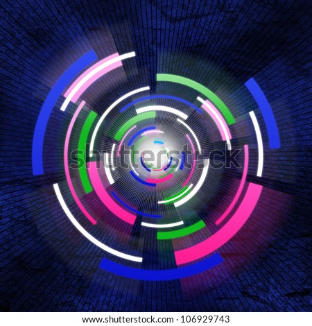 abstract hitech background - stock photo