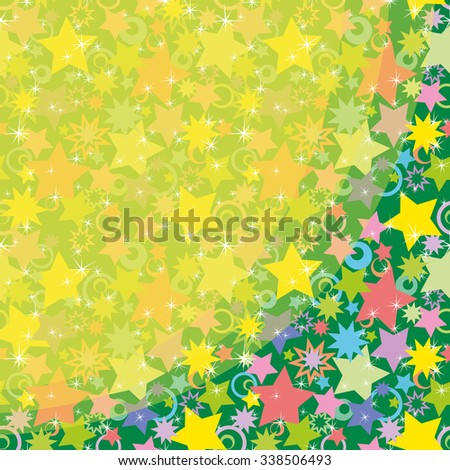 Abstract Holiday Background, Pattern of Colorful Stars - stock photo